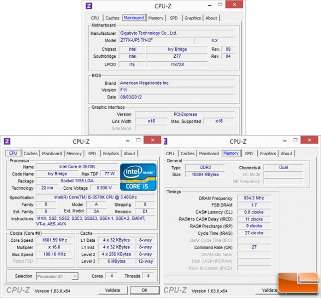Z77X-UP5 TH CPUZ Screens