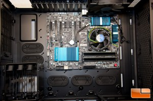 Corsair Obsidian 750D Motherboard Installed