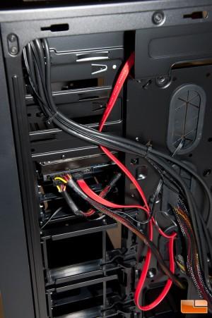 Corsair Obsidian 750D HDD Installed Rear