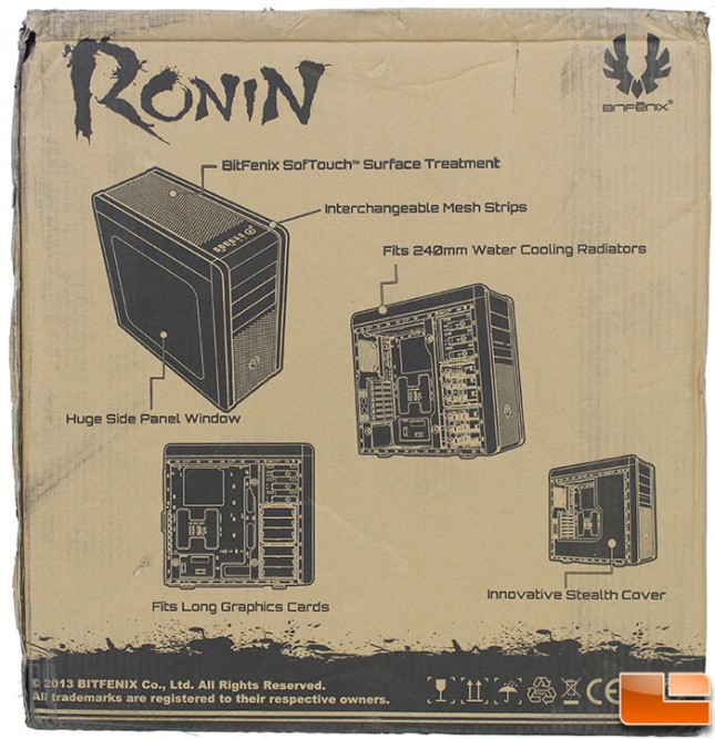 Ronin Packaging Back