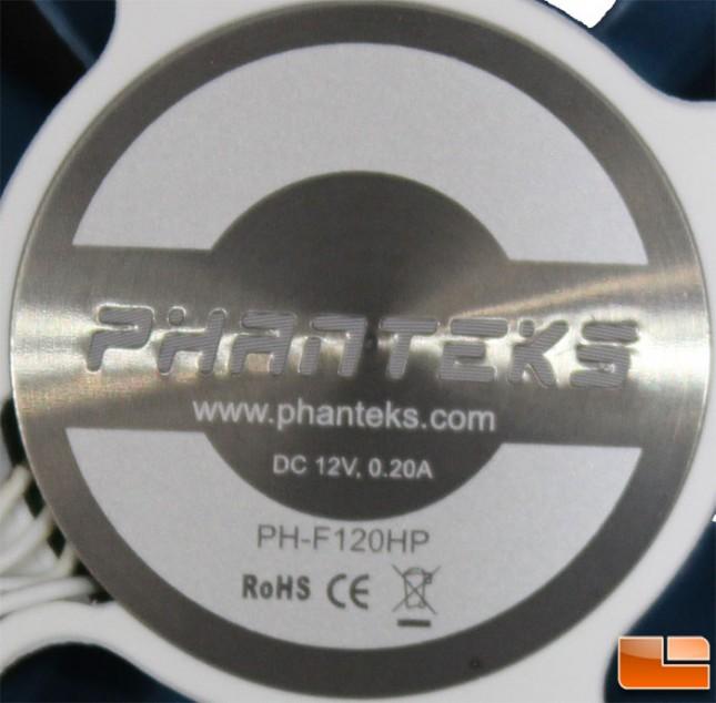 TC12DX Fan Label
