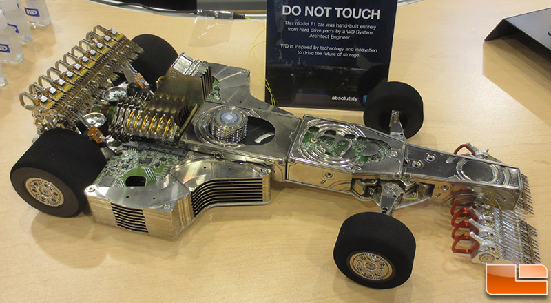 250 Hard Drives Used To Make One Epic F1 Car - Legit Reviews