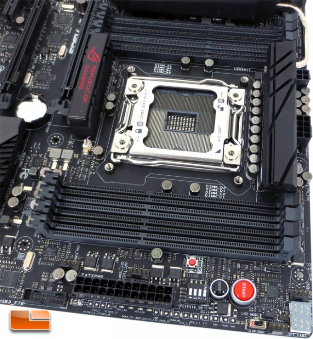 ASUS Rampage IV Black Edition Intel X79 Motherboard Layout