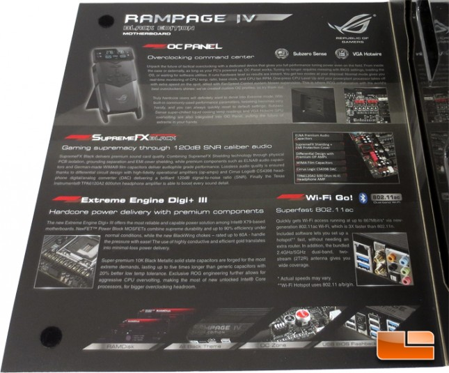 ASUS Rampage IV Black Edition Retail Packaging