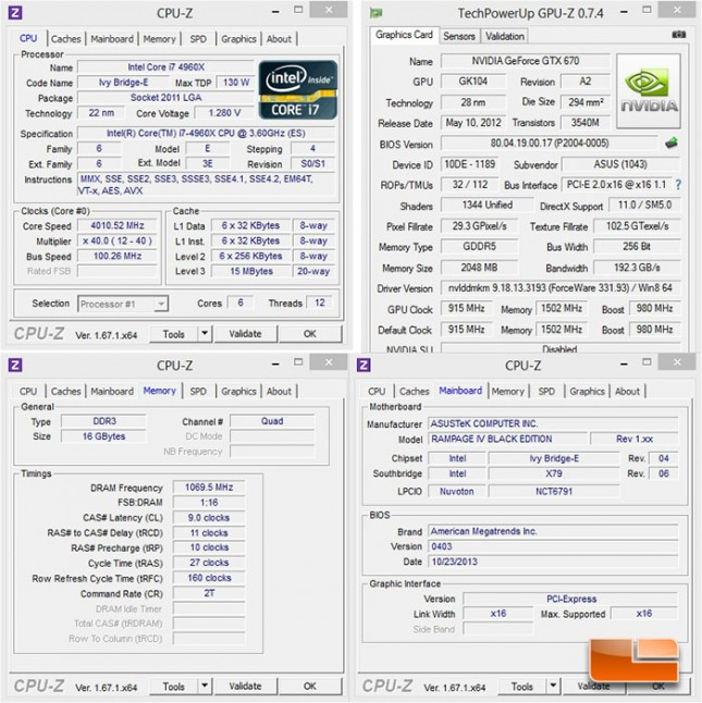 ASUS Rampage IV Black Edition System Settings