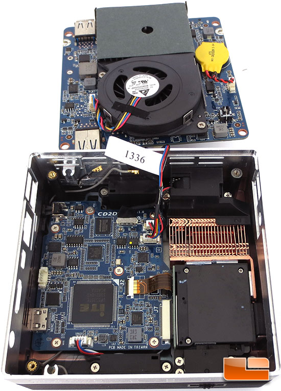GIGABYTE BRIX Ultra SFF PC & Projector Inner Parts