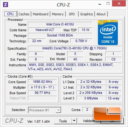 GIGABYTE BXPi3-4010 PC & Projector CPUz
