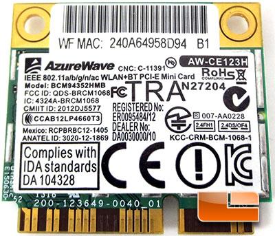 GIGABYTE Z87X-UD5 TH AZUREWAVE AW-CE123H Wireless AC mini PCIe Card