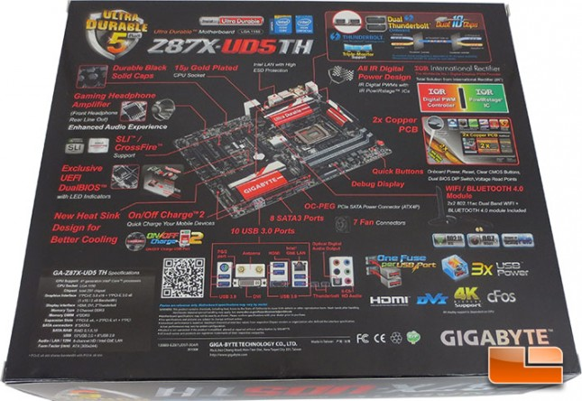 GIGABYTE Z87X-UD5 TH Retail Packaging