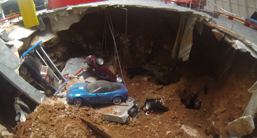 Drone Helicopter Used To Fly Into Corvette Museum Sinkhole