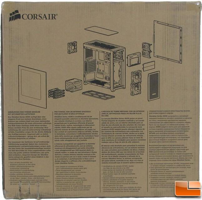 Corsair Obsidian 450D Box Back
