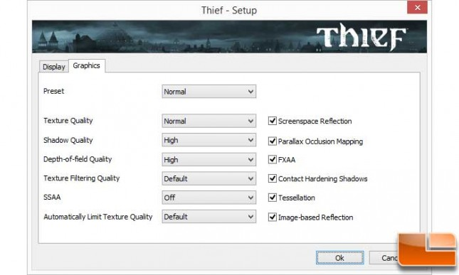 Thief Mantle Graphic Settings