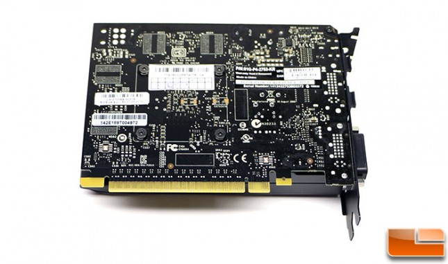 EVGA GeForce GTX 750 1GB SC Back
