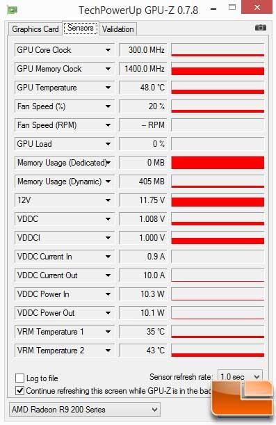 Sapphire Vapor-X R9 290 GPU-Z Idle