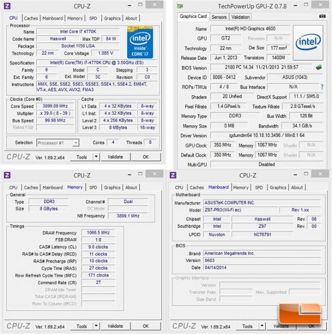 ASUS Z97-Pro [Wi-Fi ac] System Settings
