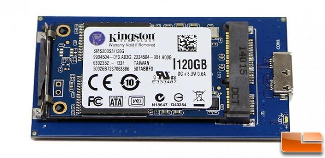 VisionTek mSATA mini Enclosure with Kingston mSATA SSD