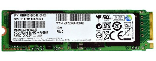 Samsung XP941 PCIe SSD MZHPU256HCGL