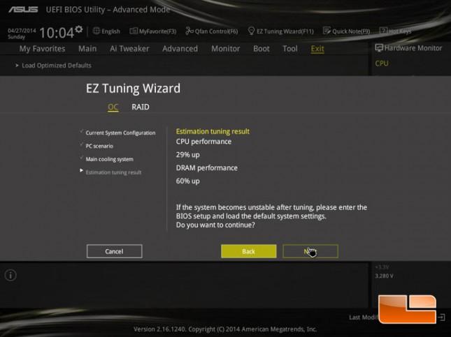 ASUS EZ Tuning Wizard
