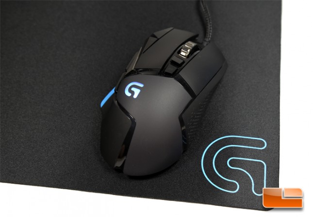 Logitech G502 Proteus Core Gaming Mouse and Logitech G240 Cloth Gaming Mouse Pad