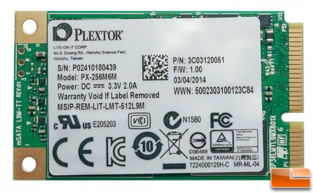 Plextor M6M  mSATA 256GB