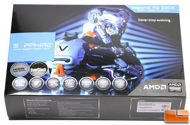 Sapphire R9 290X Vapor-X Box