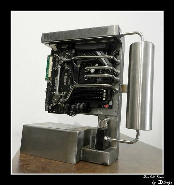 Water Cooled Stainless Steel Tower Pc Mod Done Right