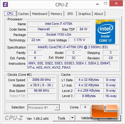 GIGABYTE Z97X-SOC Force Intel Core i7-4770K CPUz