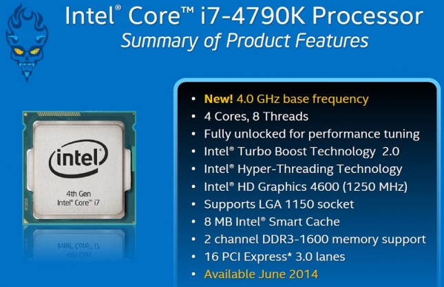 Intel Core i7-4790K Features