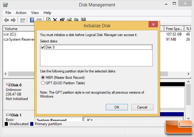 Windows 8.1 Disk Management