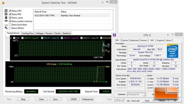GIGABYTE Z97X-Gaming G1 WiFi-BK 4.8GHz Overclock Results