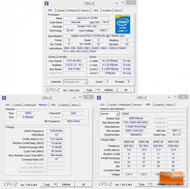 ADATA XPG 3100MHz memory Kit System Settings