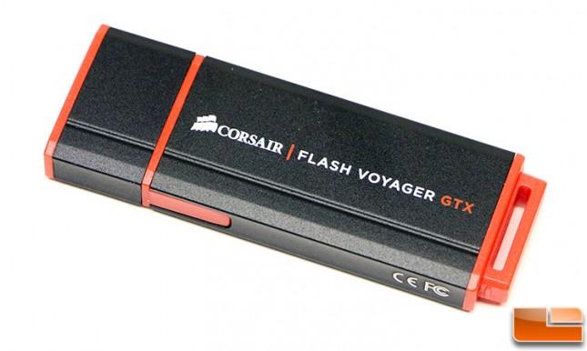 Corsair Flash Voyager GTX 128GB Drive Side