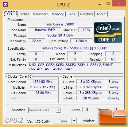 Intel Core i7-5960X Overclock