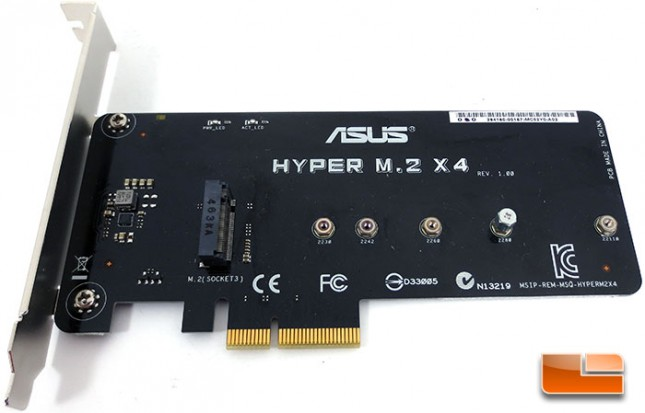 ASUS X99 Deluxe Intel X99 Motherboard Hyper M.2 X4 Expansion Card