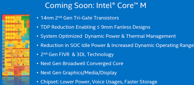 Intel Core M Broadwell-Y