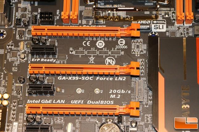 Gigabyte GA-X99-SOC Force LN2 Motherboard M.2 Socket