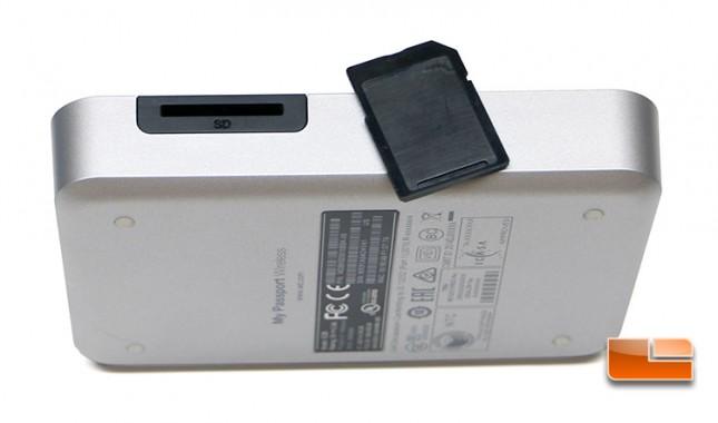 WD My Passport Wireless Drive SD Card Reader