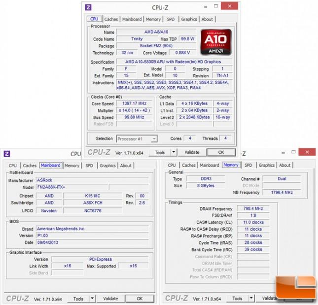 ASRock A88x CPUZ