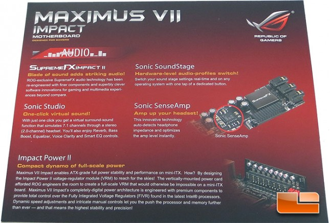 ASUS Maximus VII Impact Motherboard Retail Packaging