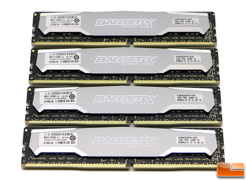 Crucial Ballistix Sport DDR4 2400MHz 32GB Memory Kit Review