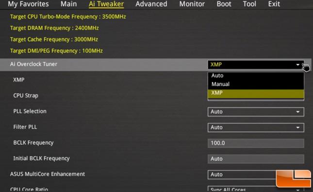 Intel XMP 2.0 Settings