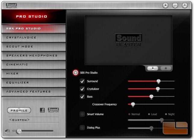 Sound Blaster Z-Series Control Panel