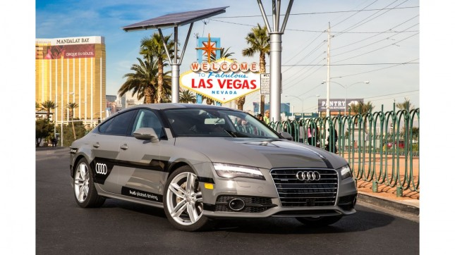Audi news-audi-2015-A7-piloted-driving-welcome-to-vegas