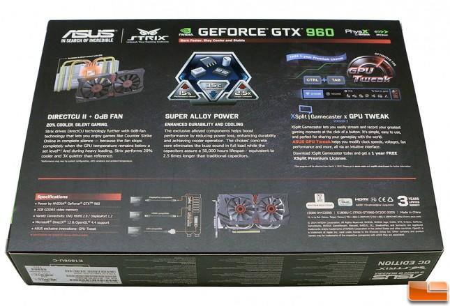 ASUS GeForce GTX 960 Retail Box Back
