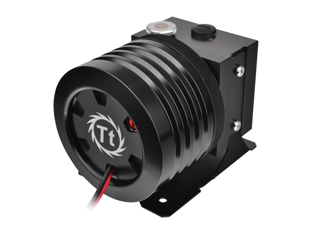 The rather unique looking Thermaltake Pacific P1 Black D5 pump (part number CL-W026-PL00BL-A) is the heart of the new DIY part line and retails for $189.99 ...