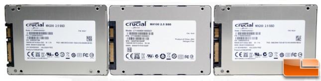 Crucial MX200 & BX100