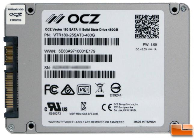 OCZ Vector 180 480GB Rear