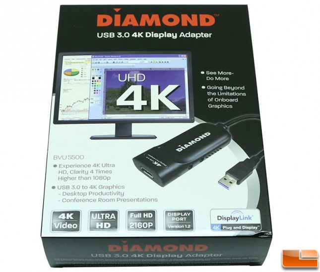 Diamond USB 3.0 to 4K DisplayPort Adapter