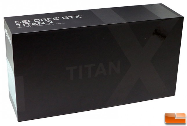 NVIDIA GeForce GTX Titan X Box