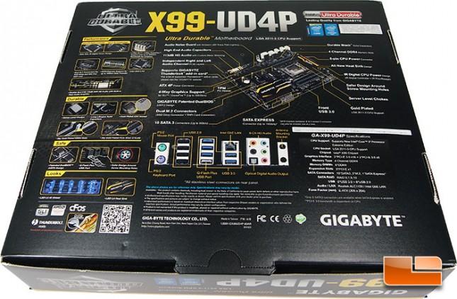 GIGABYTE X99-UD4P Retail Packaging